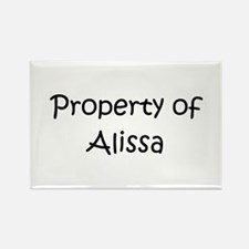 Cute Alissa Rectangle Magnet