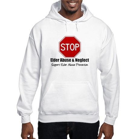 Elder Abuse is Wrong Hooded Sweatshirt