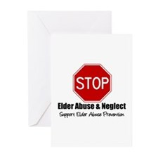 Elder Abuse is Wrong Greeting Cards (Pk of 10)
