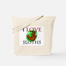 I Love Sloths Tote Bag