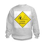 Yellow Loose Gravel Sign - Kids Sweatshirt