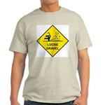 Yellow Loose Gravel Sign - Ash Grey T-Shirt