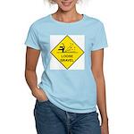 Yellow Loose Gravel Sign - Women's Pink T-Shirt