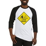 Yellow Loose Gravel Sign - Baseball Jersey