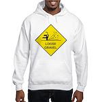 Yellow Loose Gravel Sign - Hooded Sweatshirt