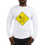Yellow Loose Gravel Sign - Long Sleeve T-Shirt