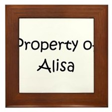 Unique Alisa Framed Tile