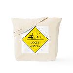 Yellow Loose Gravel Sign - Tote Bag