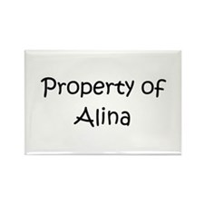 Funny Alina Rectangle Magnet