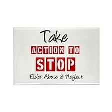 Elder Abuse Awareness Rectangle Magnet