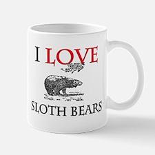 I Love Sloth Bears Mug