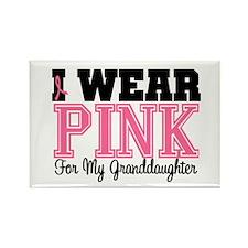 I Wear Pink Granddaughter Rectangle Magnet