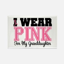 I Wear Pink Granddaughter Rectangle Magnet