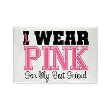 Pink Ribbon Best Friend Rectangle Magnet