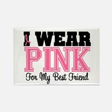 Pink Ribbon Best Friend Rectangle Magnet