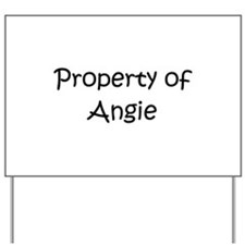 Unique Angie Yard Sign
