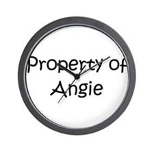 Cute Property of angie Wall Clock
