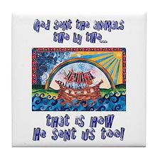 Noah's Ark / twins Tile Coaster