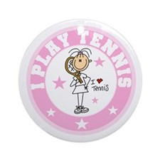 Girl I Play Tennis Ornament (Round)