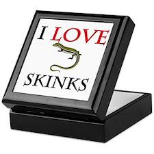 I Love Skinks Keepsake Box