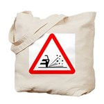 Loose Gravel Sign - Tote Bag