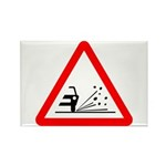 Loose Gravel Sign - Rectangle Magnet (10 pack)
