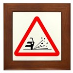 Loose Gravel Sign - Framed Tile