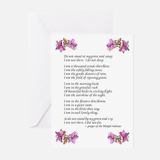 Do Not Weep Greeting Cards