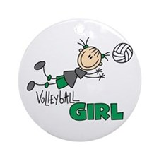 Volleyball Girl Ornament (Round)