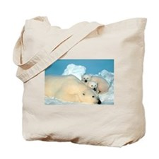 Lazy Polar Bears Tote Bag