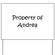 Unique Andrea Yard Sign