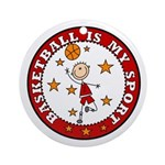 Basketball My Sport Ornament (Round)