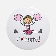 Pink Love Cheering Ornament (Round)