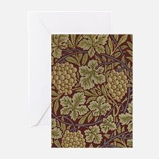 William Morris Grape Vine Wallpaper Greeting Cards