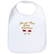 Our First Twins' Christmas Bib