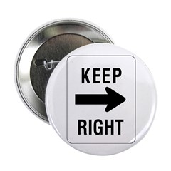 "Keep Right Sign - 2.25"" Button (10 pack)"