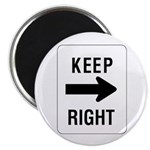 """Keep Right Sign - 2.25"""" Magnet (10 pack)"""