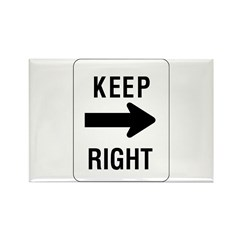 Keep Right Sign - Rectangle Magnet (100 pack)