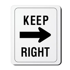 Keep Right Sign - Mousepad