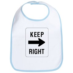 Keep Right Sign - Bib