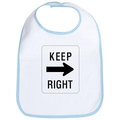 Keep Right Sign - Bib