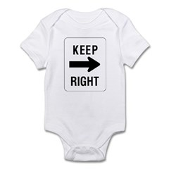Keep Right Sign - Infant Creeper