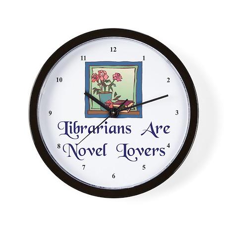 """Novel Lovers"" Wall Clock"