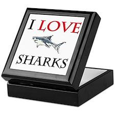 I Love Sharks Keepsake Box