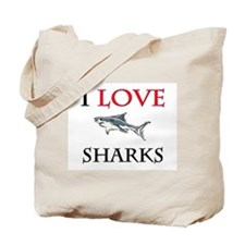 I Love Sharks Tote Bag