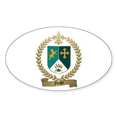 FORGET Family Crest Oval Decal