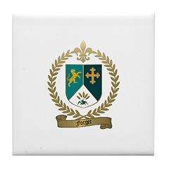 FORGET Family Crest Tile Coaster