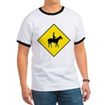 Horse Crossing Sign Ringer T