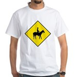 Horse Crossing Sign White T-Shirt