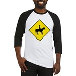 Horse Crossing Sign Baseball Jersey